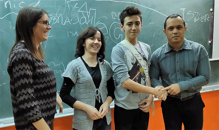 Mile Nikolić s učiteljima