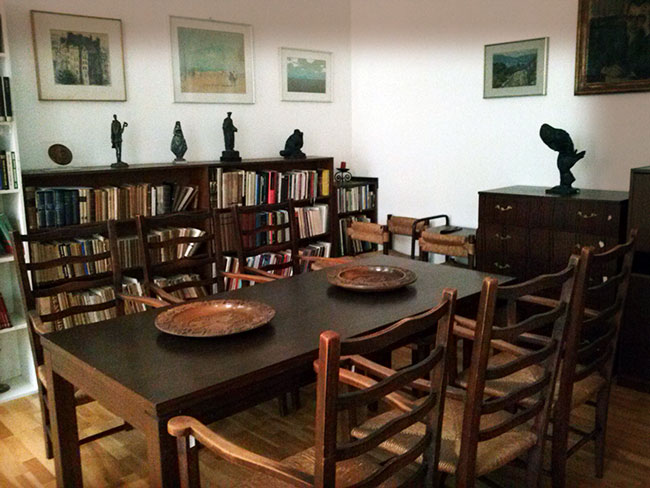 Jedna od soba zagrebačkog stana Dragutina Tadijanovića
